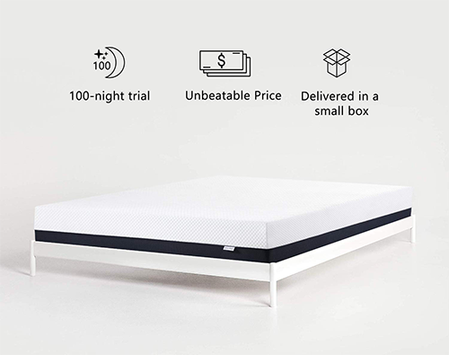 Inofia 10 Inch Ventilated Cool Gel Infused Mattress