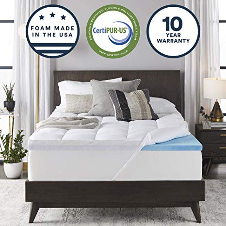 Sleep Innovations Gel Memory Foam Mattress Topper
