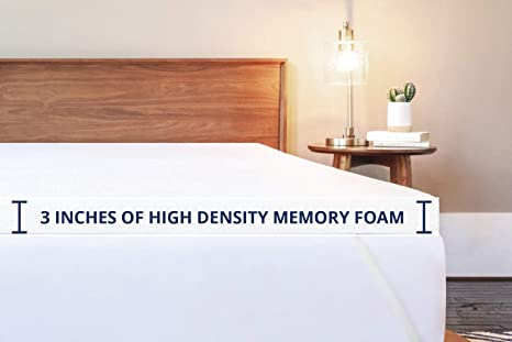 ViscoSoft 3 Inch Memory Foam Mattress Topper