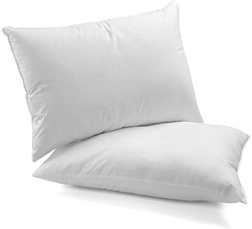 Continental Bedding 100% Down Pillows (Egyptian Cotton Shell)