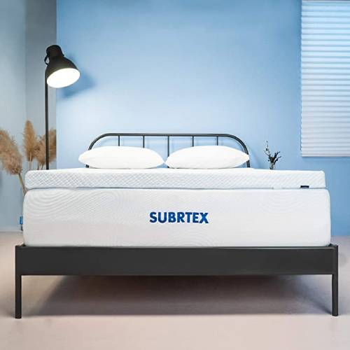 Subrtex 3 Inch Gel-Infused Memory Foam Bed Mattress Topper High Density Cooling Pad