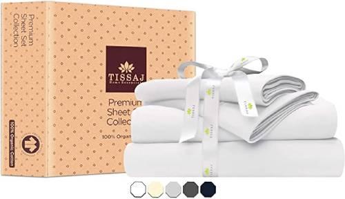 Tissaj GOTS certified Organic Cotton Sheets